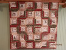 Quilt made for cousin Tina