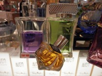 Perfume bottles come in all shapes and sizes