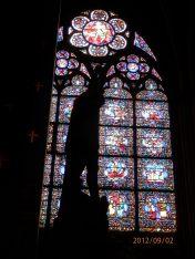 Window inside Notre Dame