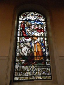 One of the stain glass windows