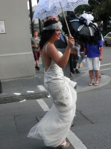 Beautiful bride in New Orleans