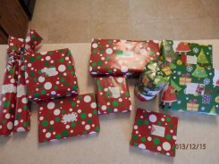 9 presents all wrapped and tagged