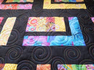 Machine quilting swirls