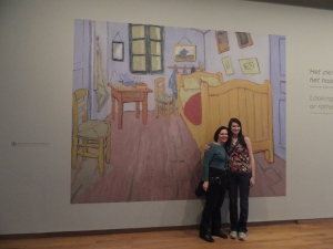 "Van Gogh Musuem mural ""The Bedroom"""