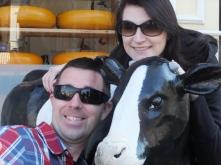 Cow/kids selfie