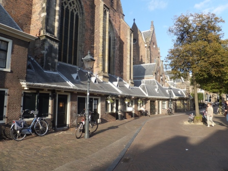 Shops attached to church