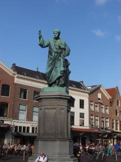 Statute in square