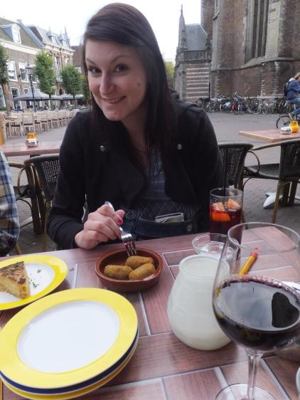 Kate at tapas restaurant