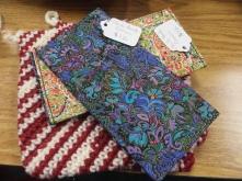 Designer fabric checkbook covers