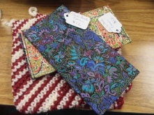 Designer fabric checkbook covers