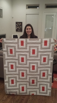 Katie and her quilt!