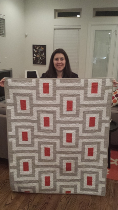 Katie and her quilt!