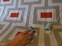 Kim plays with quilting thread choices