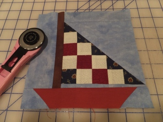 One sailboat done!