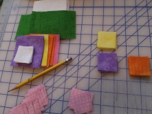 Laying out the flower blocks