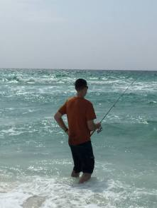 Ricky surf fishing