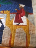 Outline quilting camel and king