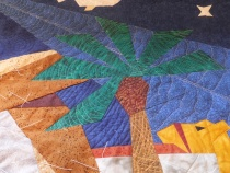 Close-up of quilting
