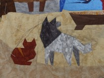 Our dog is quilted!