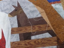Donkey quilted