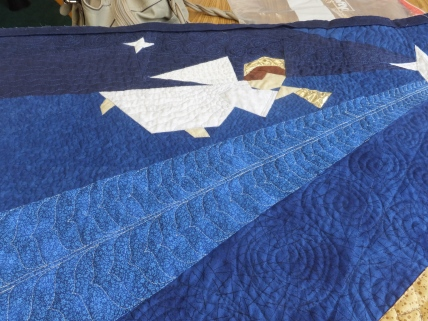 Angel detail quilting
