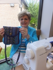Angela finishes a lovely purse