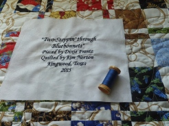 Named the quilt!