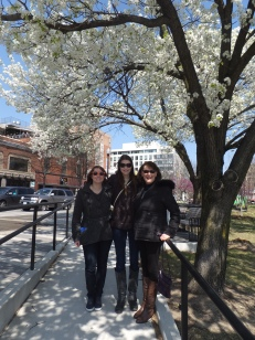 Sarah, Kate, Aleta & cherry blossoms