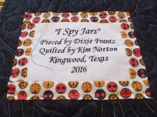 Quilt label on the back