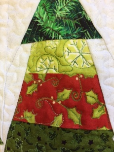 close-up of tree quilting