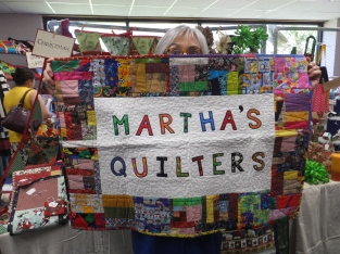 Martha's Quilters and Michele's eyeballs!