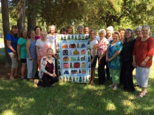 group photo of quilt