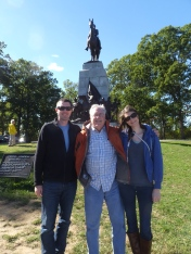 Ricky, Rick and Kate in Gettysburg