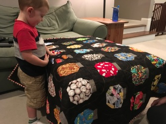 Jacob and his quilt