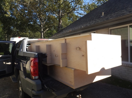 Cabinets on the truck