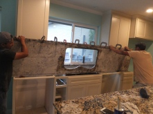 granite going in!
