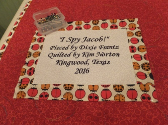 Jacob's quilt label