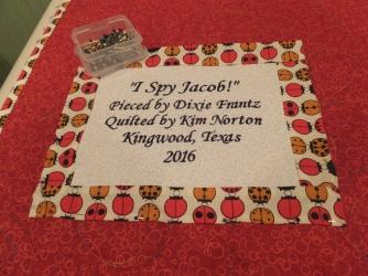 Jacob's quilt label