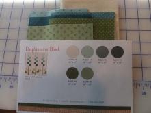Delphiniums Block fabric