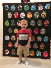 Jacob with his quilt
