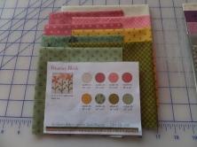 Petunias block fabric