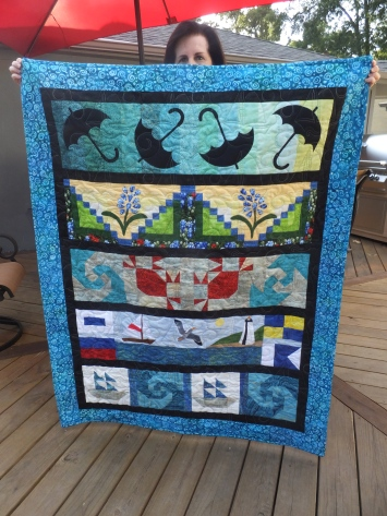 Front of 2015 row by row quilt