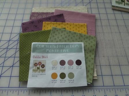 Dahlia flower fabrics