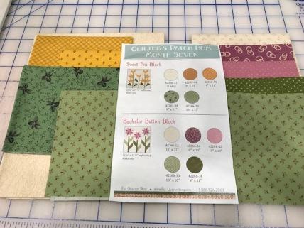 Fabric for July blocks