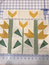 Sweet pea block almost finished!