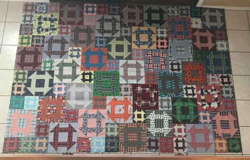 Churn Dash boxer quilt