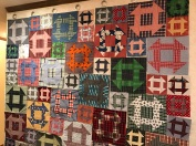 Matthew quilt on design wall