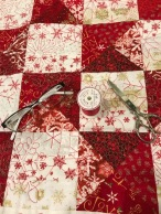 close-up of machine quilting