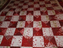 Quilt top view