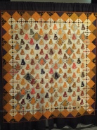 Cat quilt on exhibit